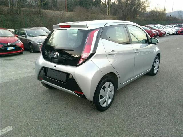 Left hand drive car TOYOTA AYGO (04/2017) - silver