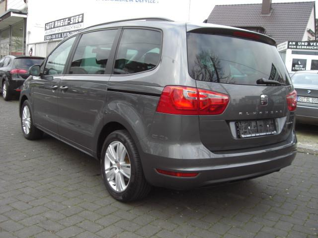 Left hand drive car SEAT ALHAMBRA (01/2014) - grey - lieu: