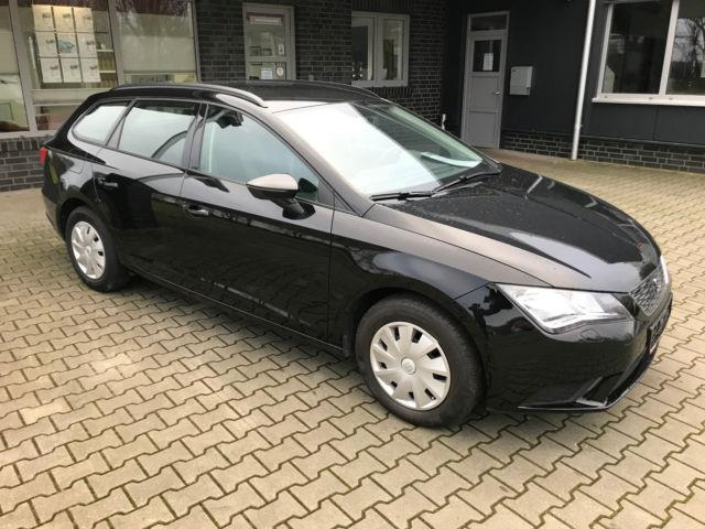lhd car SEAT LEON (03/2016) - black - lieu: