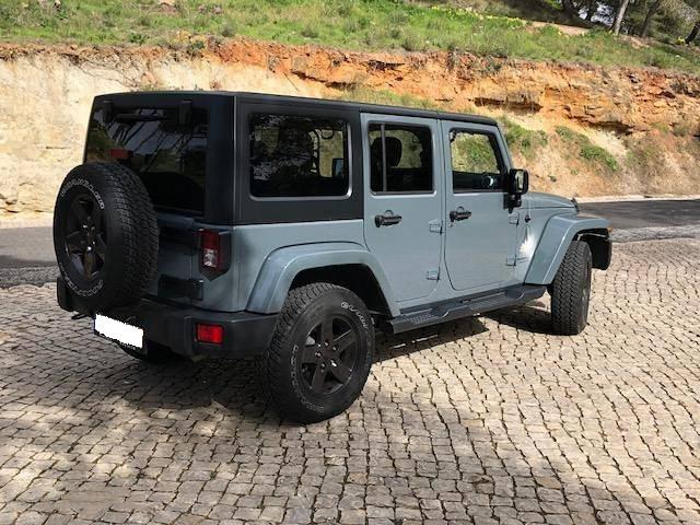 Left hand drive car JEEP WRANGLER (07/2016) - grey - lieu: