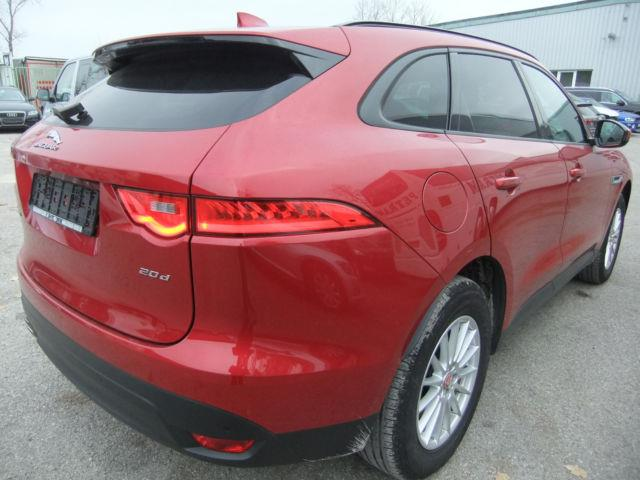 Left hand drive car JAGUAR F-PACE (08/2016) - red - lieu:
