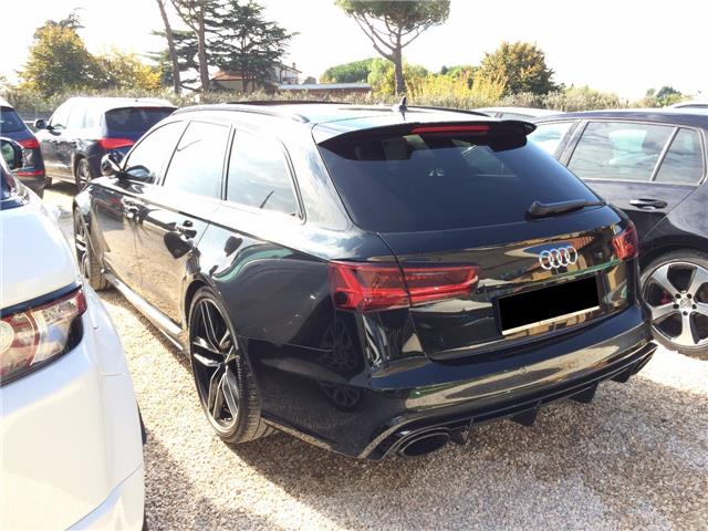 Left hand drive car AUDI RS6 (03/2015) - black