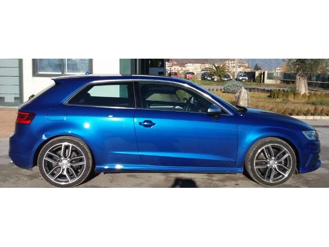 Left hand drive car AUDI S3 (11/2015) - blue - lieu: