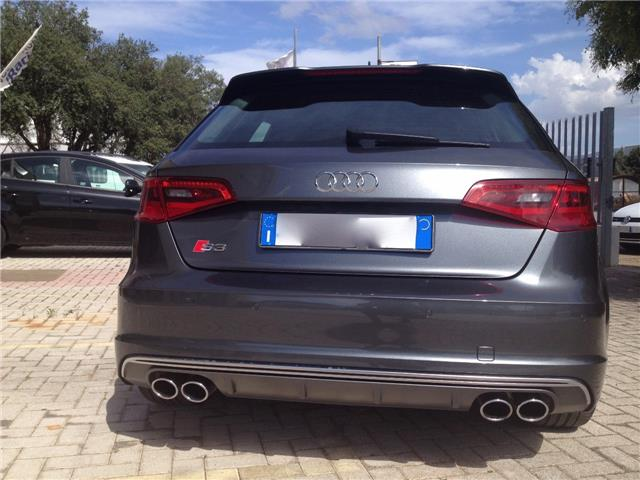 Left hand drive car AUDI S3 (06/2016) - grey - lieu: