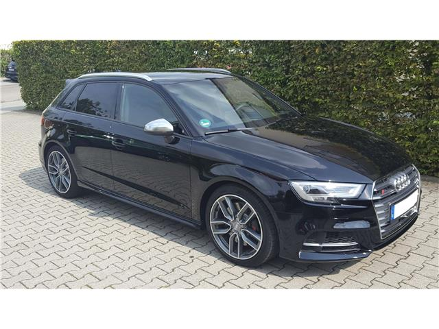 lhd car AUDI S3 (06/2017) - black - lieu: