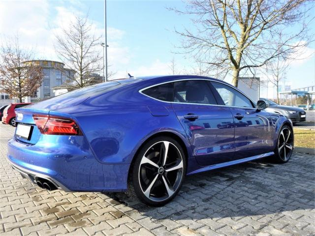 Left hand drive car AUDI S7 (09/2016) - blue