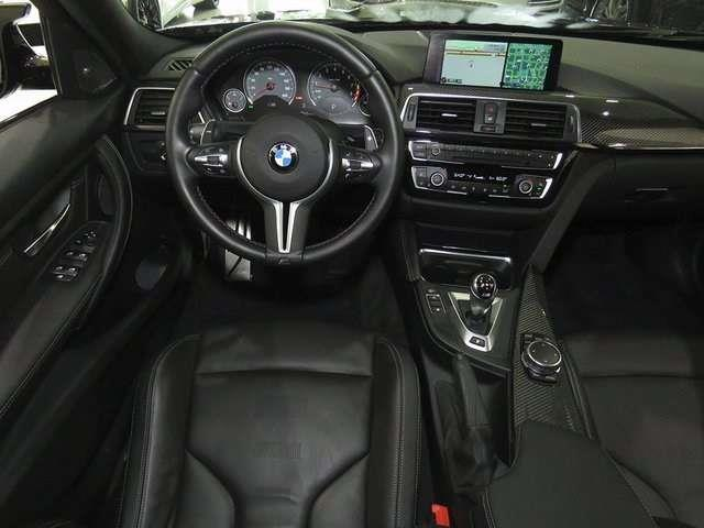 Left hand drive car BMW M3 (10/2015) - black - lieu: