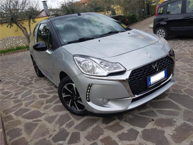 Left hand drive car CITROEN DS3 (01/2017) - silver