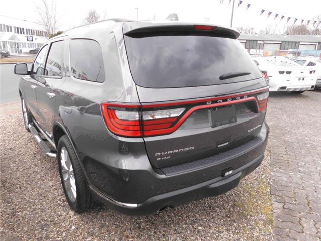 Left hand drive car DODGE DURANGO (07/2014) - grey - lieu: