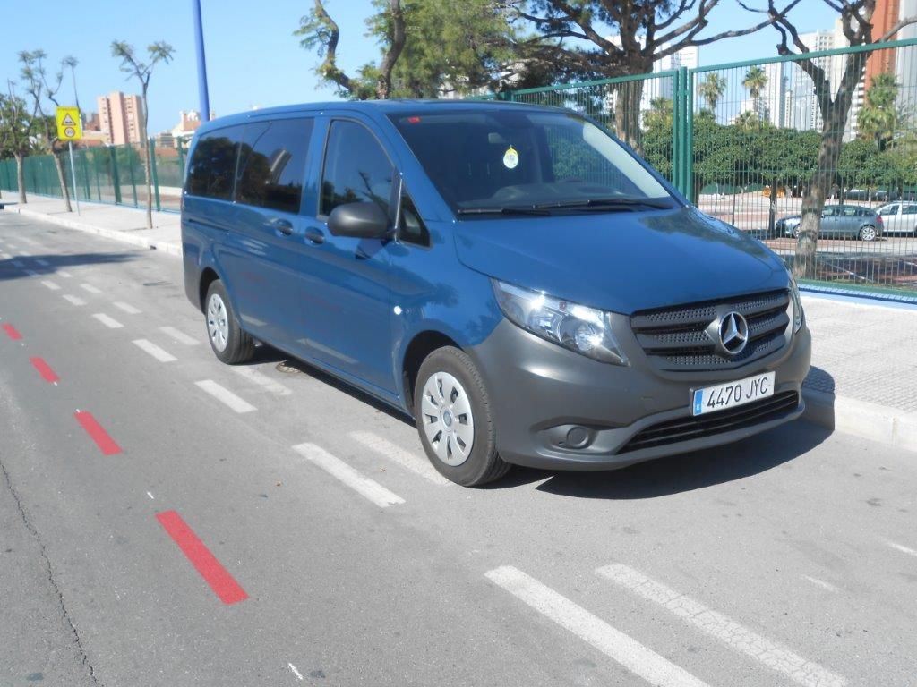 Left hand drive MERCEDES VITO Tourer 111 CDI Pro Larga 9 seats Spanish Reg
