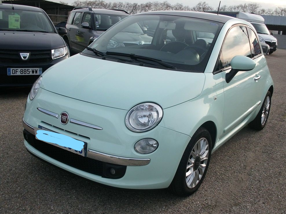 Left hand drive FIAT 500 1.0 LOUNGE FRENCH REG