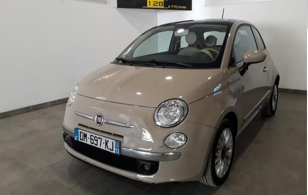 Left hand drive FIAT 500 LOUNGE AUTO FRENCH REG