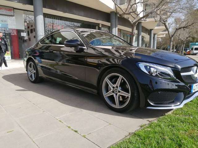 Left hand drive MERCEDES C CLASS 220d Coupe Spanish Reg