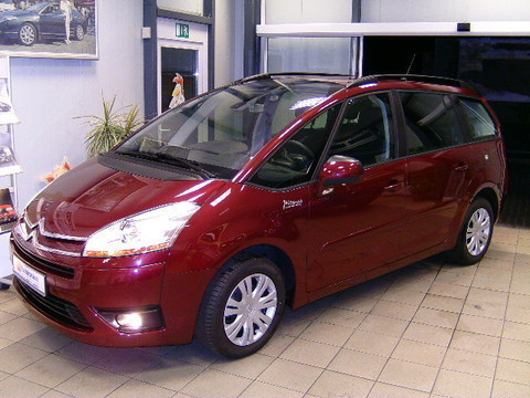 lhd citroen c4 grand picasso 01 12 2008 metallic lazer red lieu. Black Bedroom Furniture Sets. Home Design Ideas