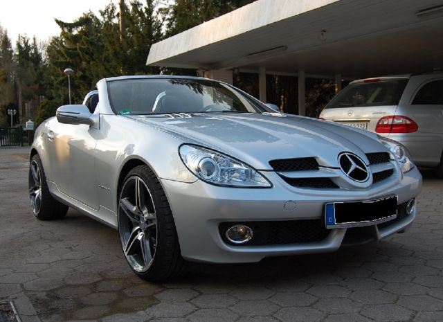 lhd mercedes slk class 04 2008 metallic iridium silver lieu. Black Bedroom Furniture Sets. Home Design Ideas
