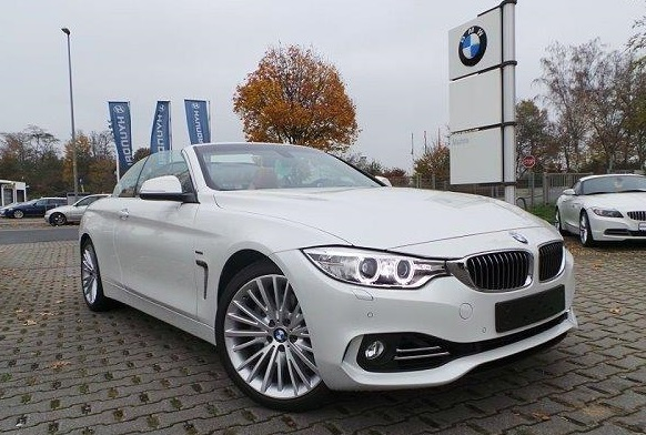 lhd BMW 4 SERIES (12/2013) - MINERAL WHITE METALLIC - lieu: