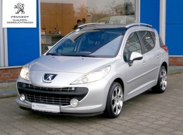 lhd peugeot 207 sw 10 2008 silver metallic lieu. Black Bedroom Furniture Sets. Home Design Ideas
