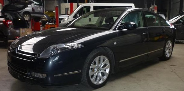 lhd CITROEN C6 (06/2010) - BLACK METALLIC - lieu: