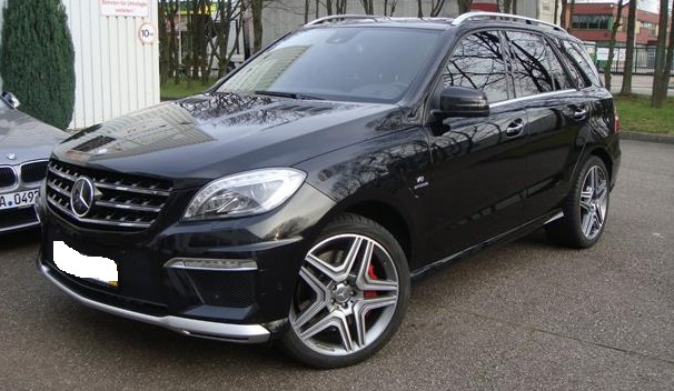lhd MERCEDES ML CLASS (07/2012) - ML 63 AMG BLACK - lieu: