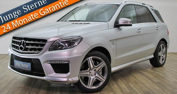 lhd MERCEDES ML CLASS (10/2012) - ML 63 AMG - WHITE - lieu: