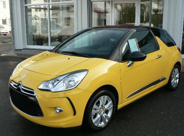 lhd citroen ds3 08 2013 yellow with black roof lieu. Black Bedroom Furniture Sets. Home Design Ideas