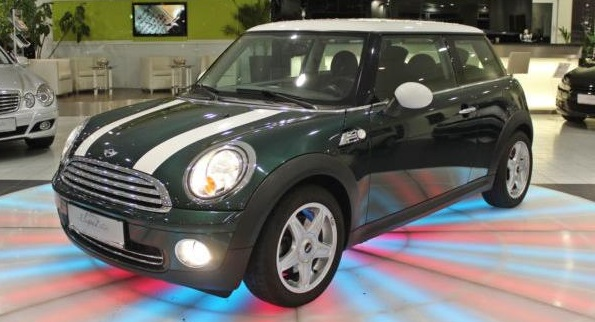 lhd MINI COOPER (03/2008) - GREEN METALLIC - lieu: