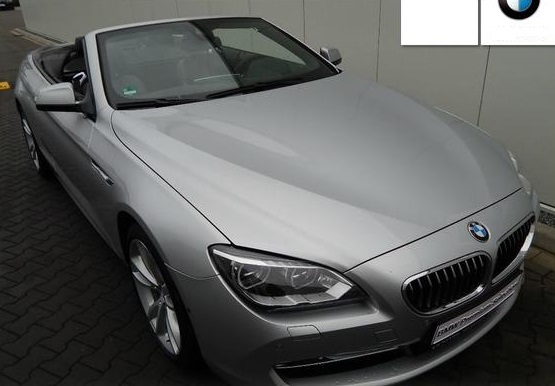 lhd BMW 6 SERIES (09/2013) - SILVER METALLIC - lieu: