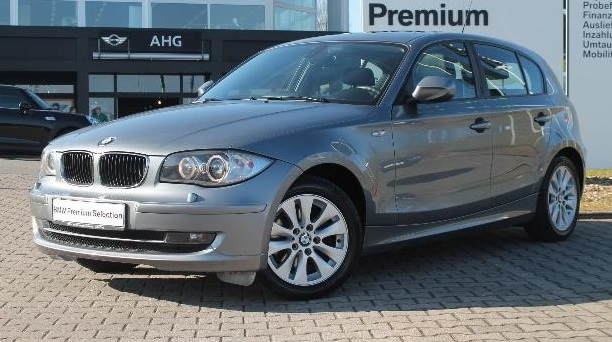lhd BMW 1 SERIES (06/2011) - SILVER METALLIC - lieu: