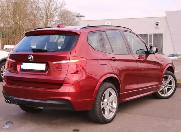 bmw x3 02 2012 red metallic lieu. Black Bedroom Furniture Sets. Home Design Ideas