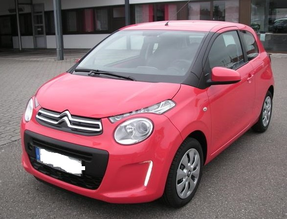 lhd CITROEN C1 (10/2012) - RED - lieu: